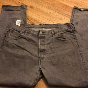 Pre owned men's Levi 501 grey jeans